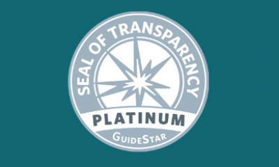 Our GuideStar Platinum Seal of Transparency